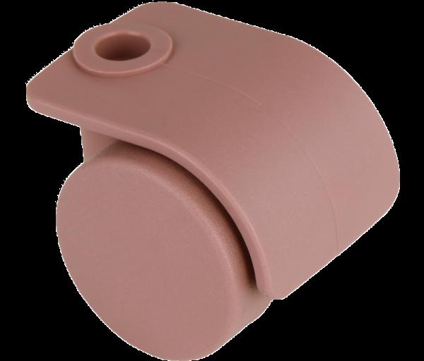 Möbelrollen in Farben | Doppelrolle Ø 035 mm mit harter Lauffläche, Bohrung Ø 8mm, plum