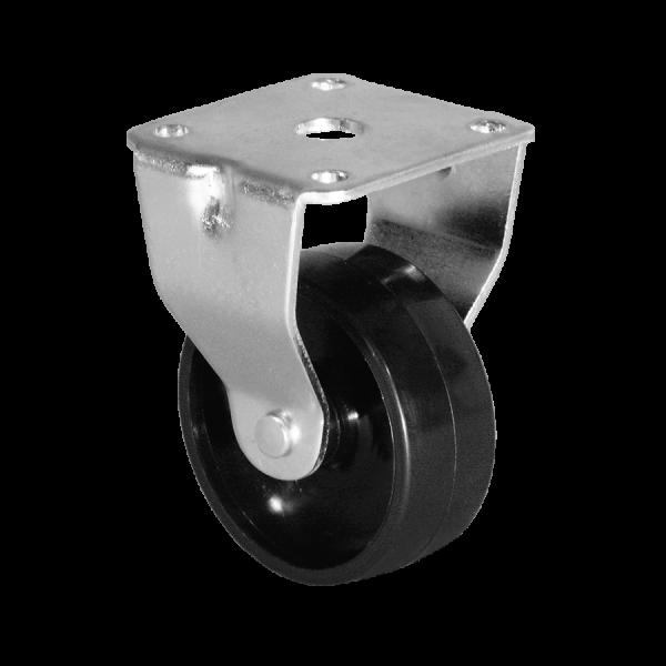 Ø 075 mm, Kastenbockrolle mit harter Lauffläche