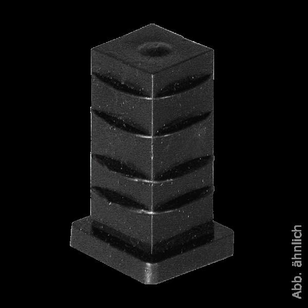 Befestigungen & Zubehör | Quadratrohrhülse 20x20 mm für Stift Ø 8 mm
